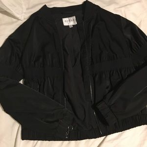 GUESS Black Bomber Jacket